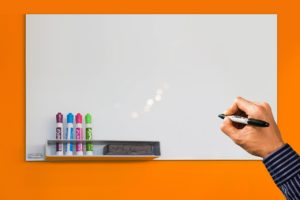 Whiteboard for home office and online classrooms